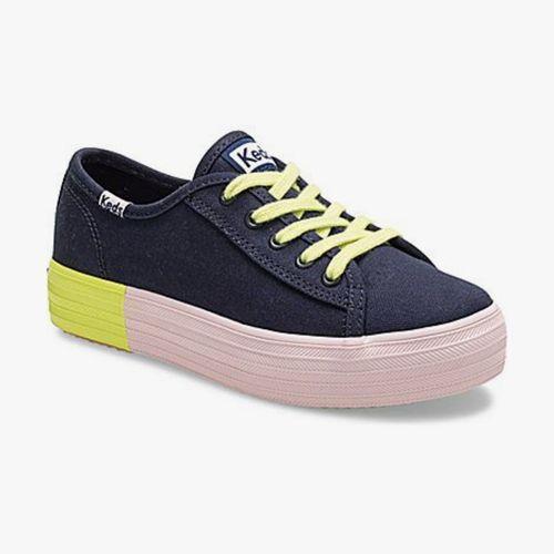 Calzado casual keds triple kick azul marino para niña