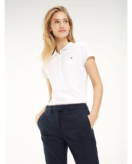 Blusa polo para damas classic blanca