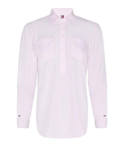 Blusa camisera rosa claro