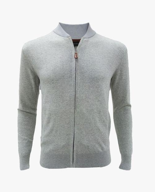 Cardigan basico pocket gris htr