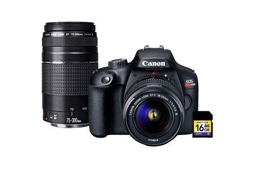 Kit Cámara digital Canon EOS t100 C/ Lente EF-S18-55mm (Incluye tarjeta SD 16GB)