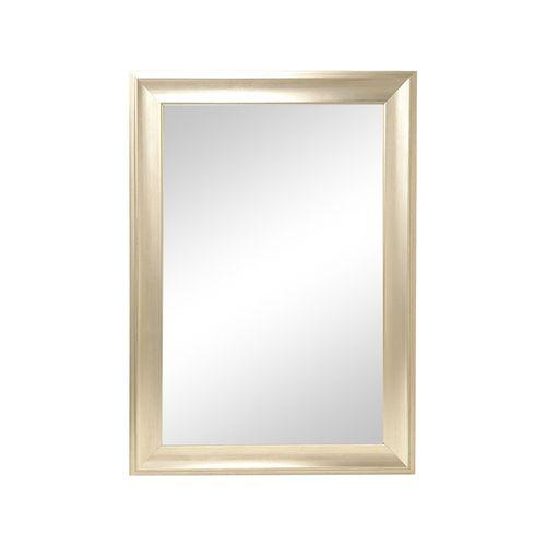 Espejo con marco de poliestireno m260  colores  plata y café 76x106 cm
