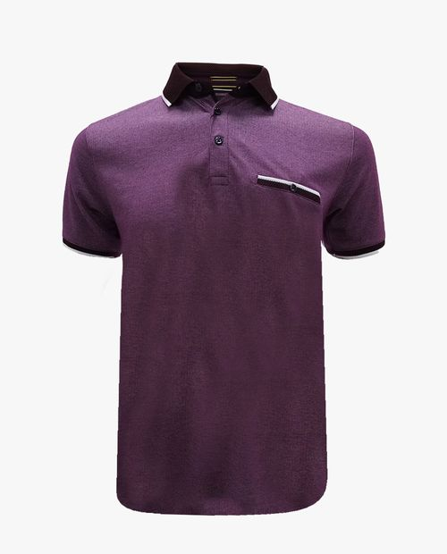 Camisa burgundy tipo polo
