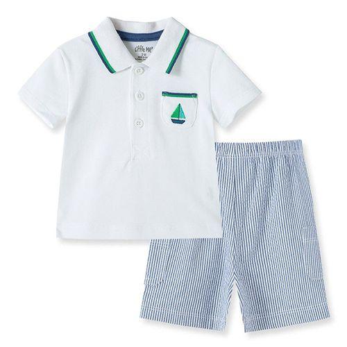 Conjunto  2 pzas camisa short para niño