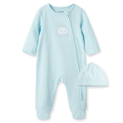 Pijama con piecitos para niño est. con gorro