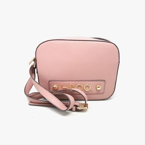 Cartera crossbody h&co color rosa para dama
