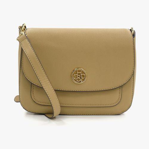 Cartera satchel h&co color taupe para dama