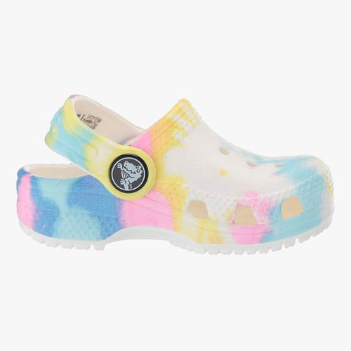 Calzado crocs blanco/multi tie dye para niña