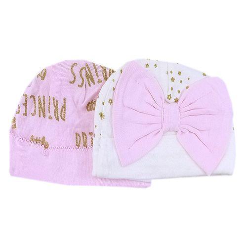 2 pack gorro para niña princesas nb
