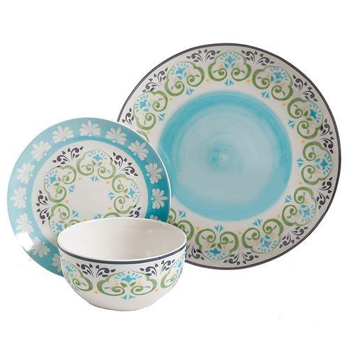 Vajilla 12 piezas decorativo  ceramica fina
