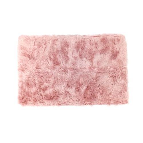 Alfombra de area faux far  30x47in rosado