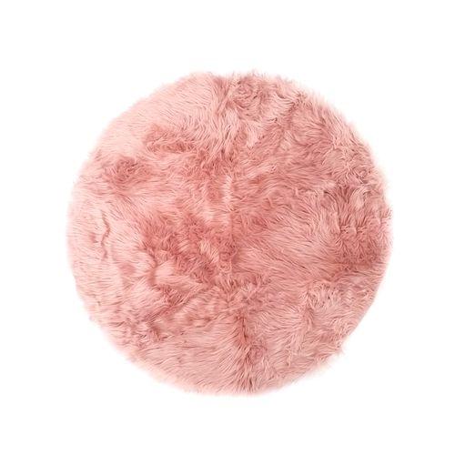 Alfombra de area faux far  39in rosado