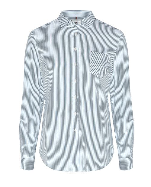 Blusa camisera pioneer blue blanca