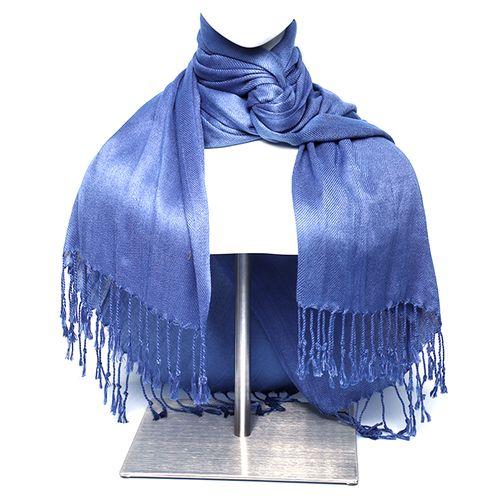 Budanda color azul pashmina para dama