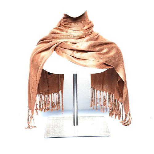 Budanda color camel pashmina para dama