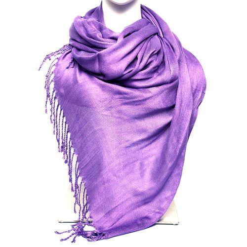 Budanda color morado pashmina para dama