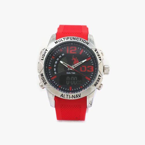 Reloj analogo caucho rojo cab
