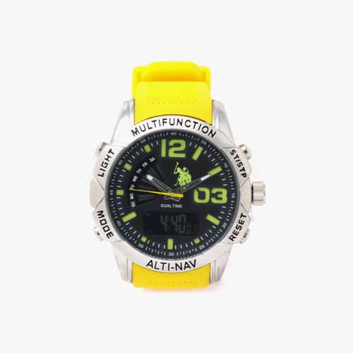 Reloj analogo caucho amarillo cab