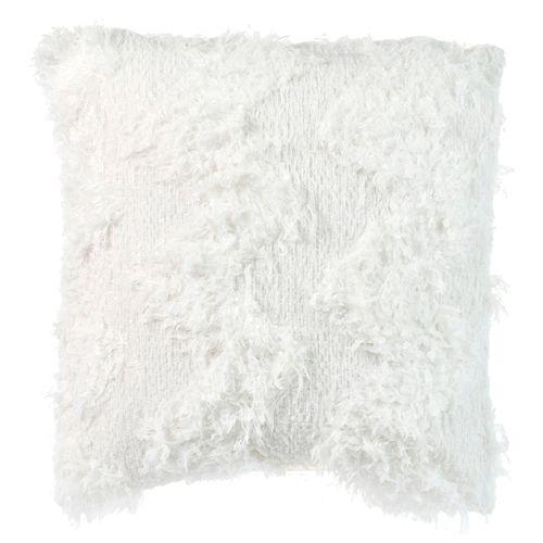 Cojín faux fur blanco 45x45