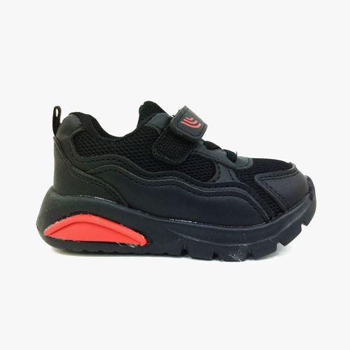 Calzado casual op kids negro/rojo para niño