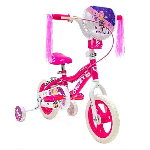 Bicicleta rali bella rin 12 rosado bmx para niña