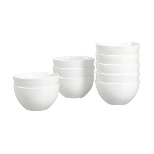 Set  10 pcs bowls color blanco  para cereal