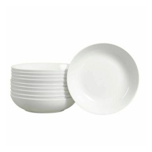Set  10 pcs plato sopero color blanco