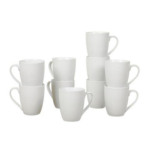 Set 10 pcs de tazas 13 oz color blanco