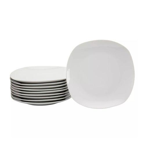 Set 10 pcs de platos para cena color blanco