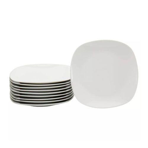 Set 10 pcs platos de ensalada color blanco