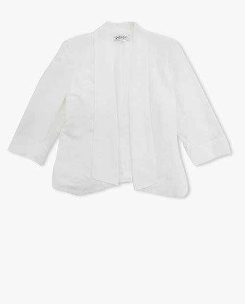 Blazer abierta lino solida blanca