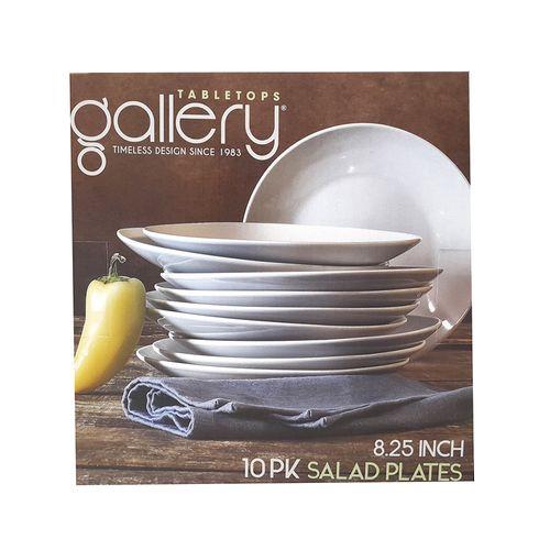 Set  10pcs platos color blanco de ensalada