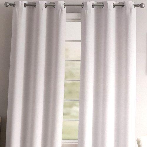 Cortina blackout carter faux linen 37x96in -blanco 2pnl