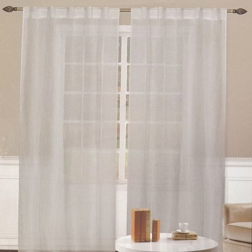 Cortina kelly 2x35x96in  - crinkled gris claro 1pnl