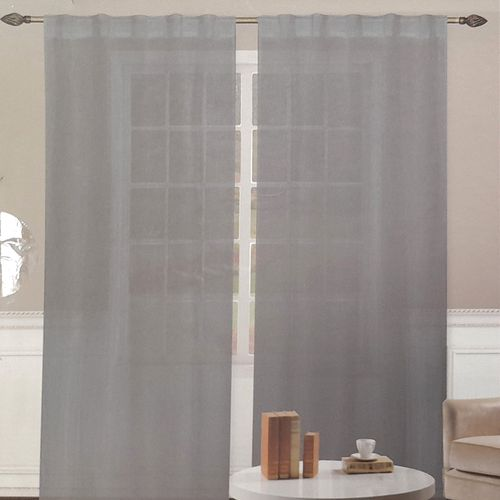 Cortina kelly 2x35x96in crinkled - charcoal 1pnl