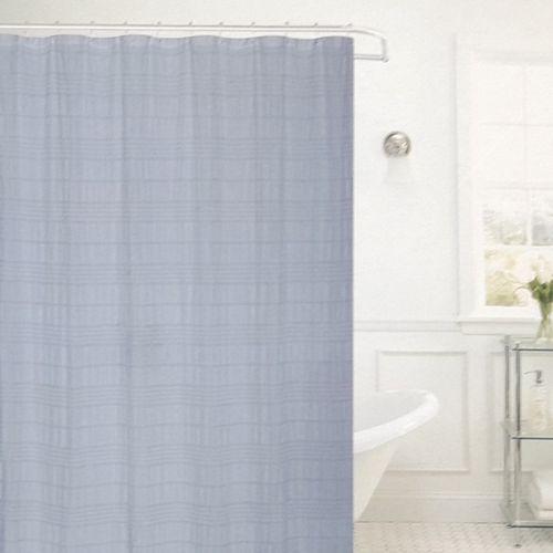 Cortina de ducha 70x72in melissa crinkled azul