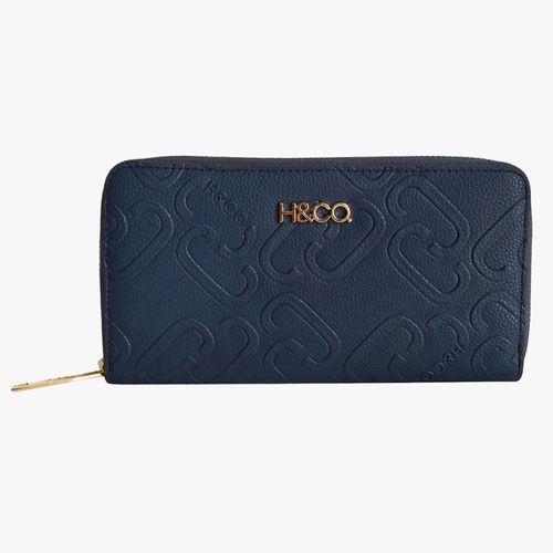Billetera azul zip around para dama