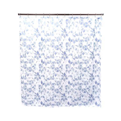 Cortina de ducha geo blue 13pc 70x72