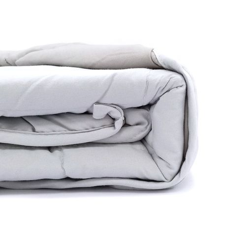 "Frazada luna sleep de peso  48""x72""/ 15 lbs. Color gris"