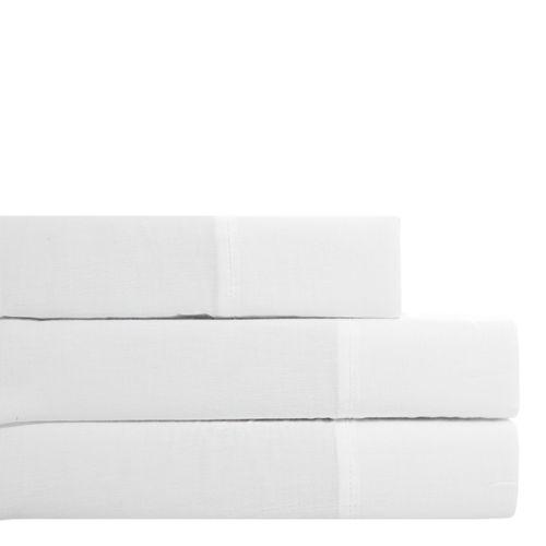 Set de sábana santina - 300h percale solido - blanco full