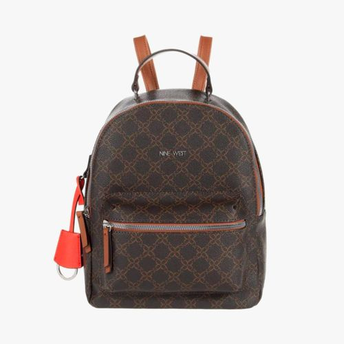 Cartera backpack color café para dama