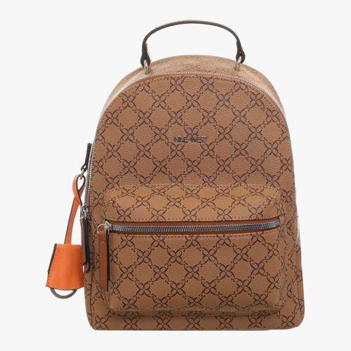 Cartera backpack color café mocha/apricot para dama