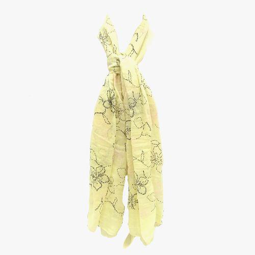 Bufanda amarilla pashmina para dama