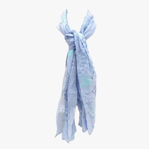 Bufanda azul pashmina para dama