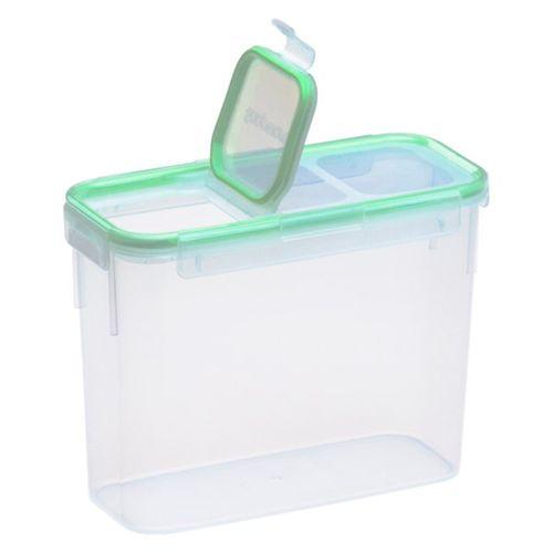 Contenedor rect delgado con tapa flip 11 tazas/2.6 l verde