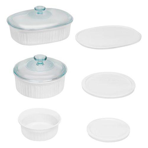 Set de 8 piezas de moldes para hornear blancos