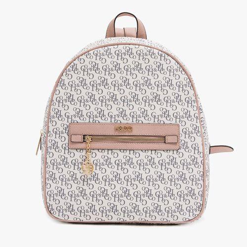 Cartera back pack h&co color rosa para dama