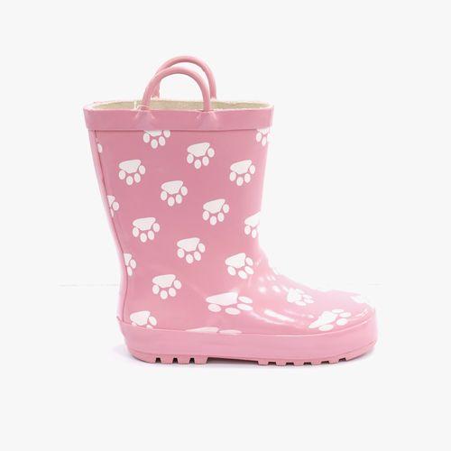 Bota de agua rosada con paws para niña