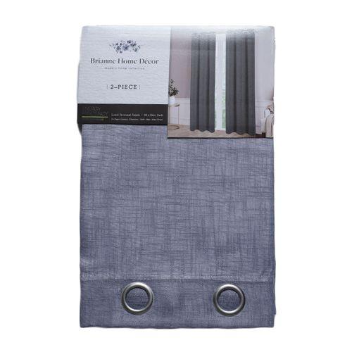 Cortina 2pnl grommet clemance 2x38x84 gris