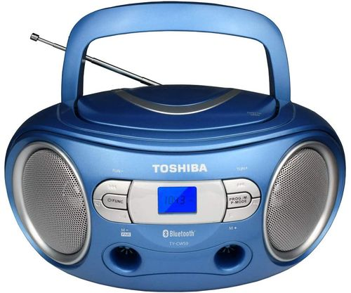 Reproductor boombox azul